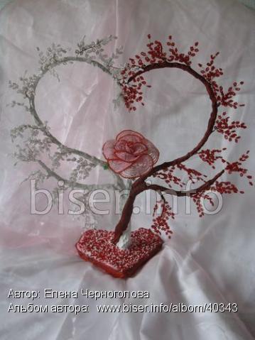дерево сердце из бисера - Лучшие схемы и описания для всех.