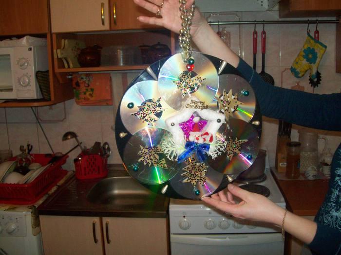Новогодняя игрушка своими руками 40 см