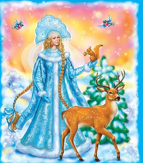 """Схема вышивки  """"Снегурочка """": таблица цветов."""