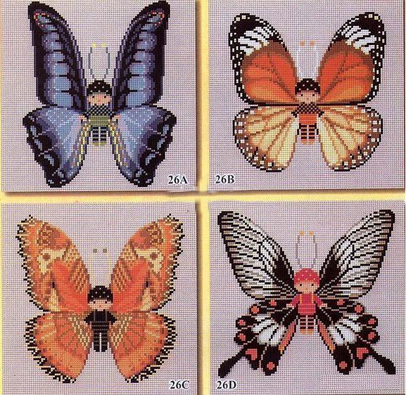 Бабочки схемы вышивки. бабочки схемы вышивки - - вышивка крестом бабочки...