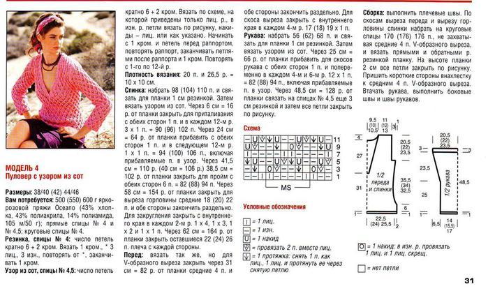 Описание вязания кардигана рисунок соты спицами 9