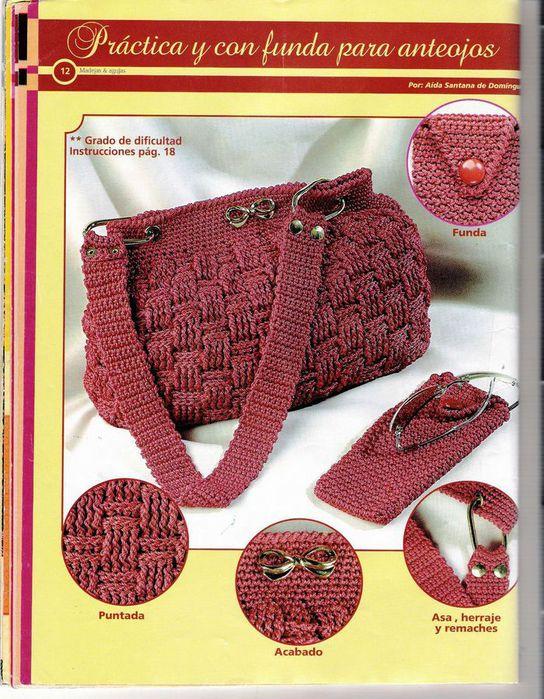 Вязание крючком модели сумочек 22