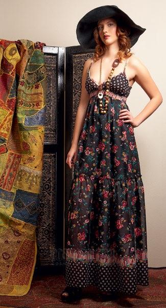 Платье в стиле хиппи выкройка.