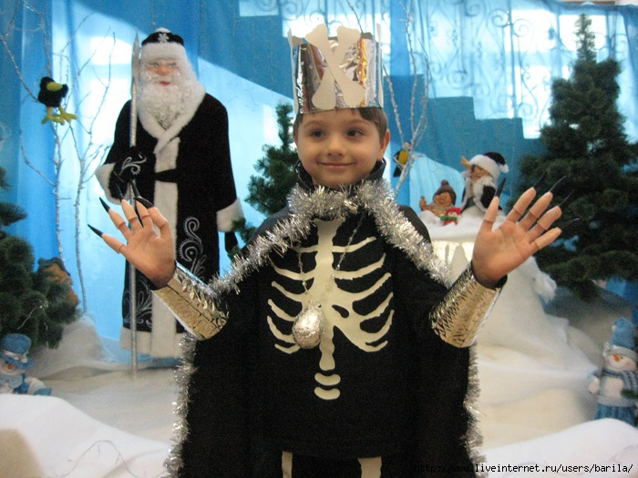 Новогодний костюм кощея своими руками