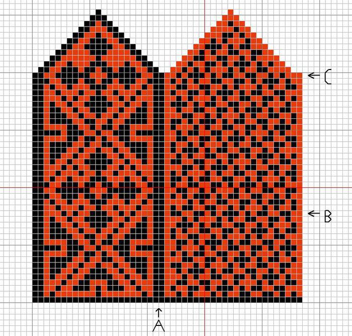 узоры подробные схемы вязания
