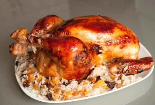 курица с рисом в духовке в рукаве рецепт с фото