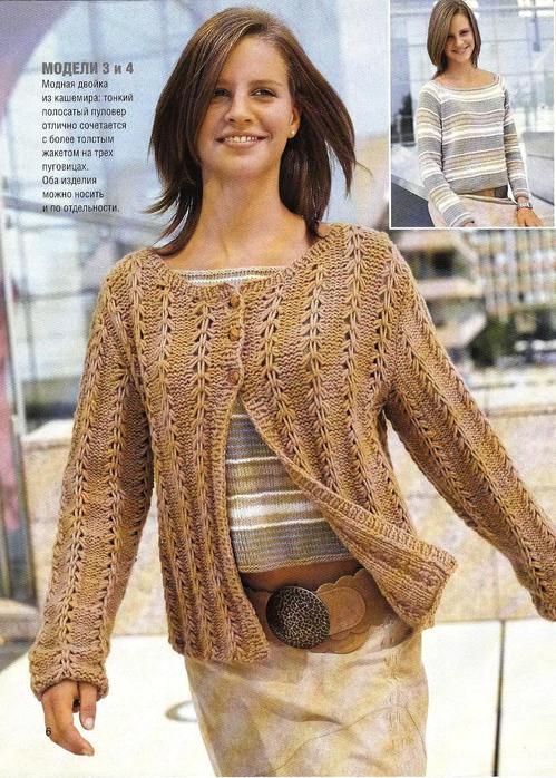 Выбрана рубрика Вязание спицами: жакеты, кофты.