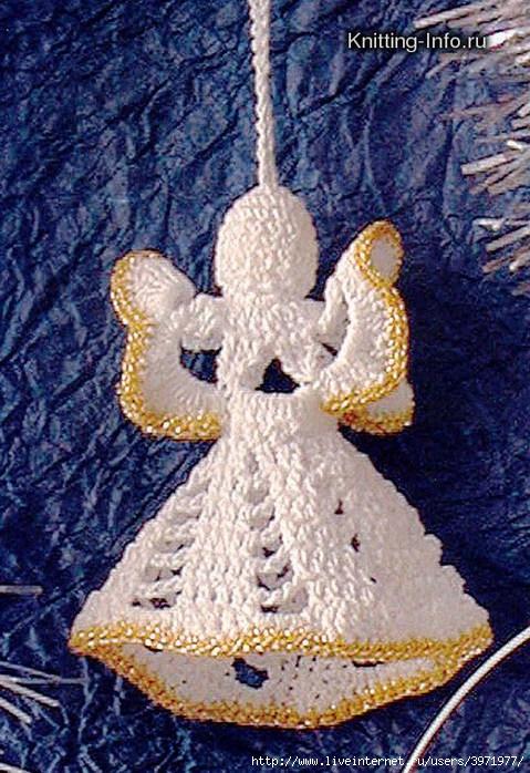 Схема вязанного крючком ангелов