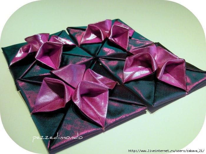 Гладиолус= оригами.  Некоторое время назад, увидев эту работу, стала искать схему.... и нашла.