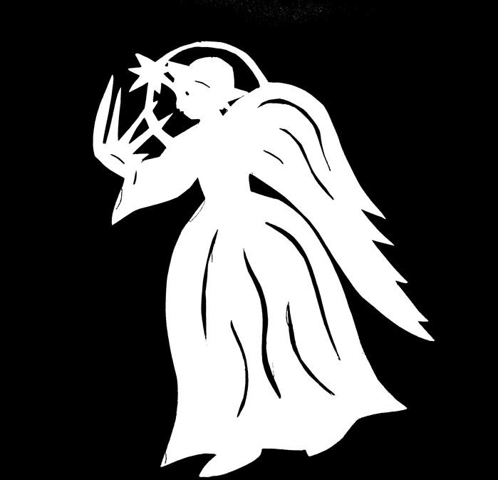 Трафарет ангелочка