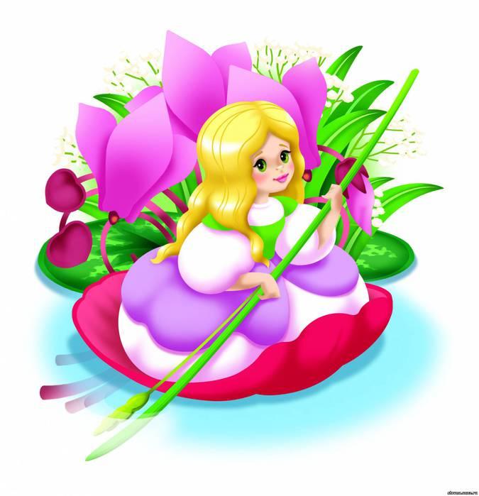 Картинка дюймовочка на цветке 7