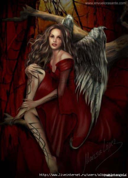Красивые рисунки ангелов с крыльями
