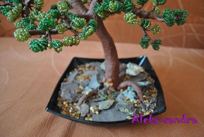 Дерево Бонсай из бисера.