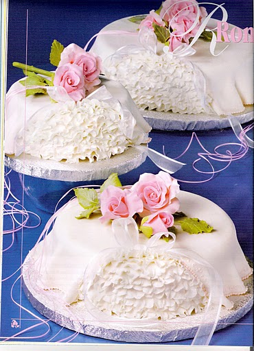 Оформление тортов марципановой