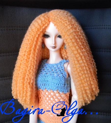Волосы для куклы из пряжи мастер класс - 76