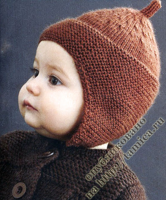 Описание: шапочка для малыша