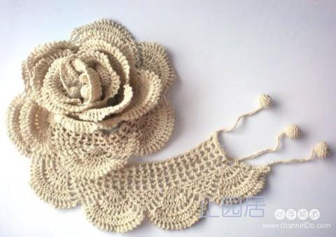 Схема вязания.  Такой цветок будет прекрасным украшением для одежды, а можно и для сумки использовать.