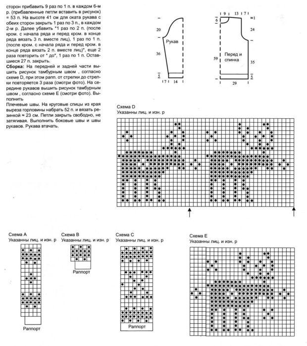 схема шарфа с оленями — схема