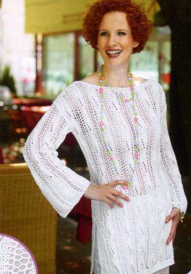 ажурное вязание спицами для женщин.