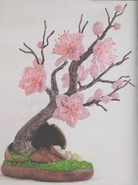 Бисероплетение - уроки по плетению из бисера для.  Теги: бисер бисероплетение деревья из бисера ... посмотреть.
