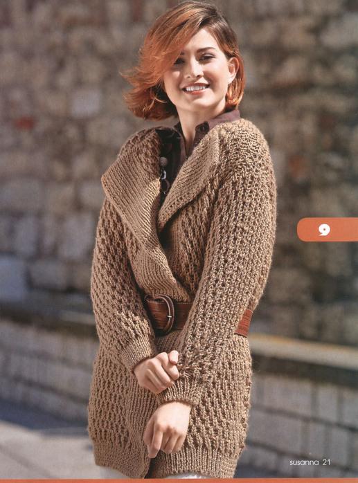 кардиган женский вязание спицами схема. модели вязаных свитеров.