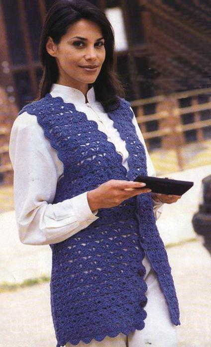 Вязание крючком жилетов для женщин