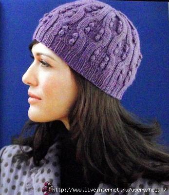 схема вязания шапки спицами. женские зимние вязанные шапочки схемы...