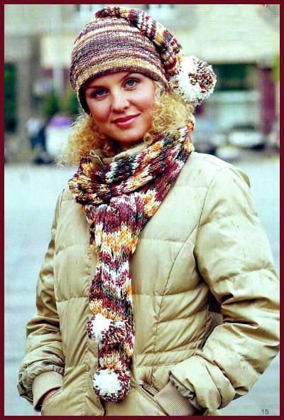 """схема вязания шарфа спицами  """" ВЯЗАНИЕ."""