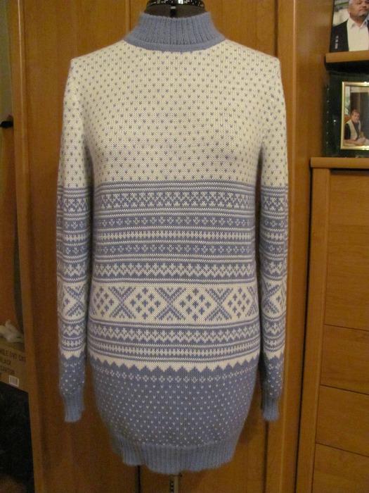 Пуловер с косами.  Вязанные детские вещи - Челябинск.