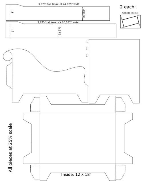 Выкройки и схемы мебель из картона своими руками
