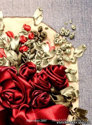 свой цитатник или сообщество!  Вышивка лентами редкой красоты: винтажные вещицы.  Прочитать целикомВ.