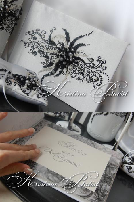 Эксклюзивный комплект свадебных аксессуаров для чёрно-белой свадьбы от...