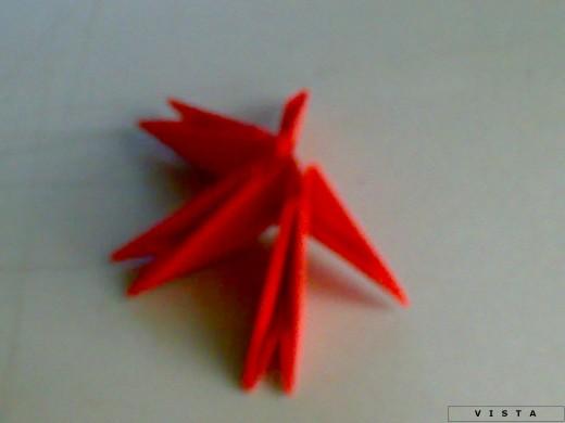 Модульное оригами павлин схема