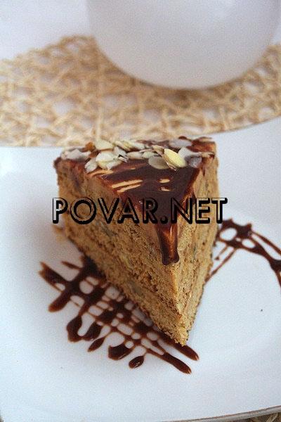 Торт медовый с орехами Мужской каприз - Рецепты с фото.