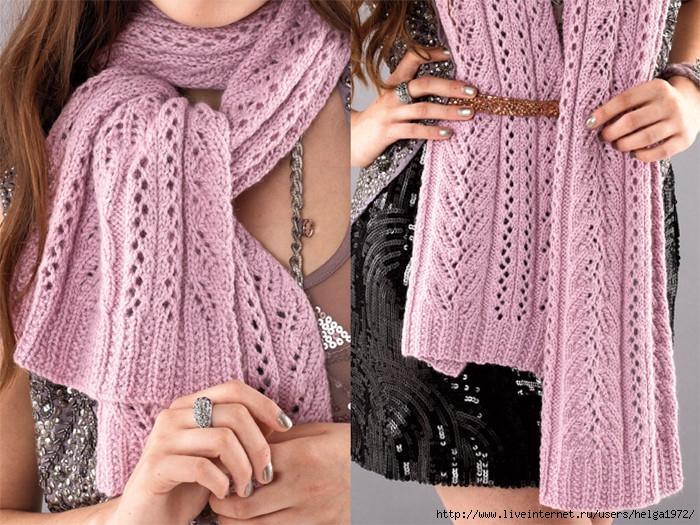 Вязание на спицами шарфы женские