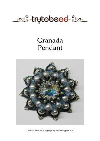 бисероплетение. схема.  Теги.  25 ноября 2010. брошь. бисер.  Хозяюшка сайта.  Granada pendant. .  Брошь из бисера и...