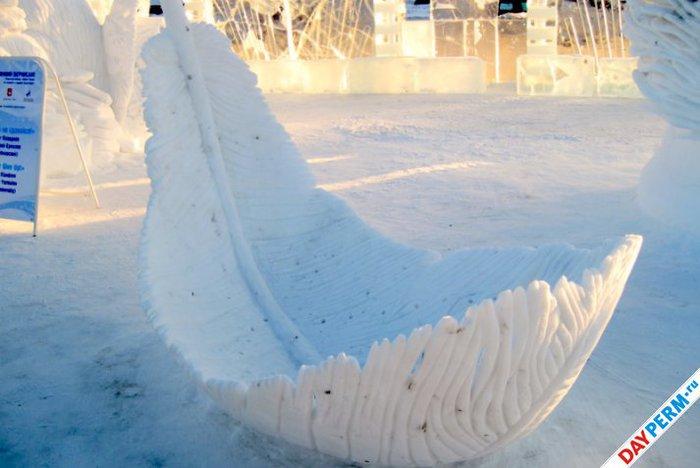 Снег и лед в природе в усинске
