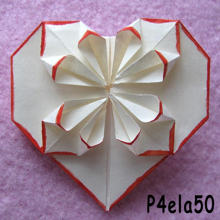 Оригами Из Бумаги Сердечко Схема