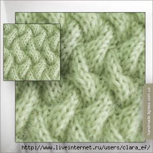 ... вязание: узор спицами 9 - плетенка.