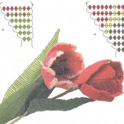 цветы из бисера бесплатно. журнал вышивка бисером.
