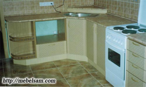 Угловая кухня фото своими руками