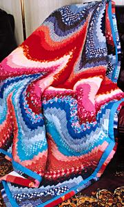 Глаза боятся, руки делают.  Квилт, с волнообразным узором.  МК. www.rukodelie.by/content. сообщения.  Рина_Санина.