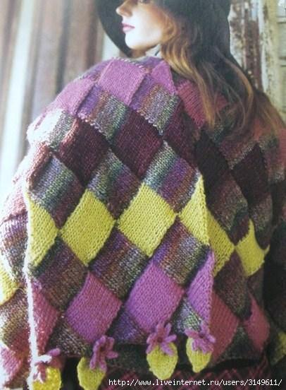необычные мужские шарфы спицами - Сумки.