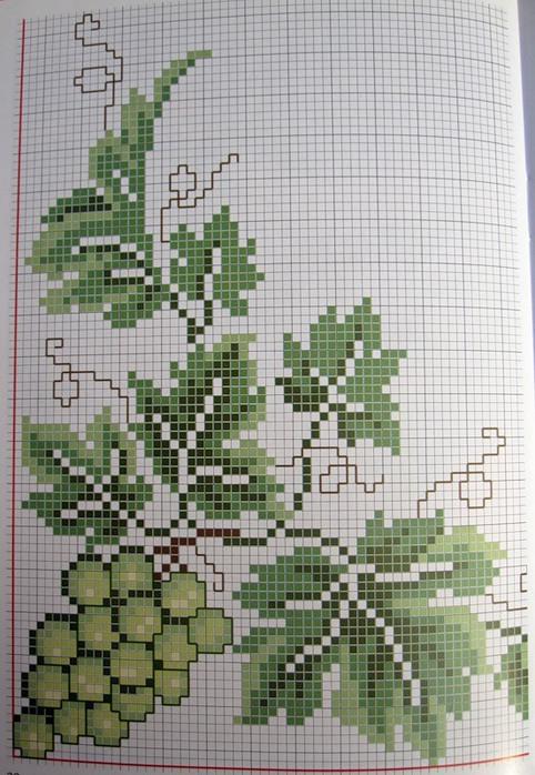 Схемы вышивки винограда крестиком 97