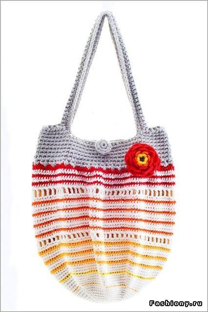 вязаные летние сумки крючком со схемами. летние сумки крючком.