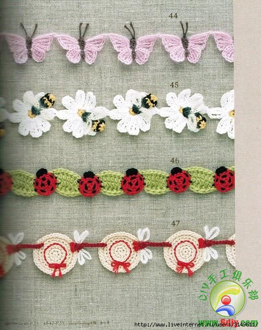 CROCHET EDGING& BRAID....FREE PATTERNS CrochetRibArt