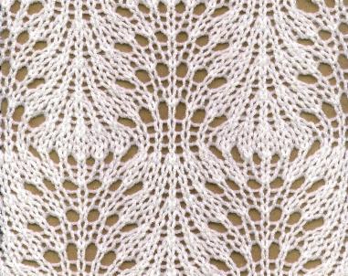 Крупный узор для шарфа спицами схема