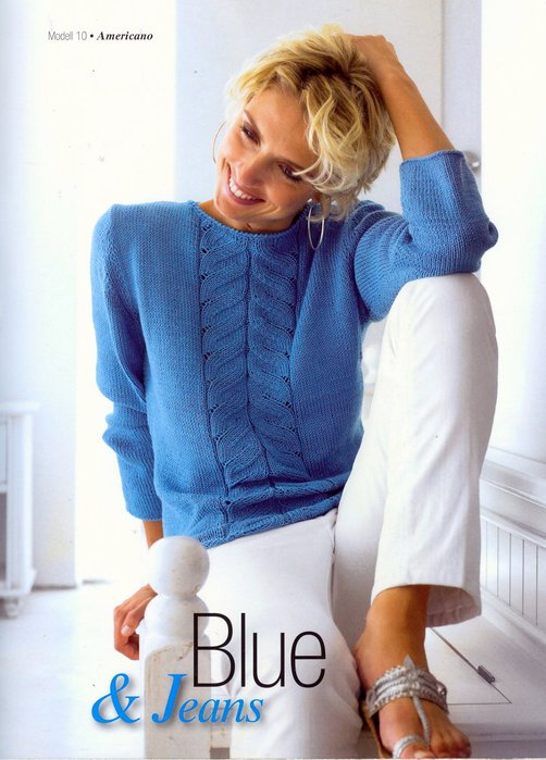 Голубой свитер женский с доставкой