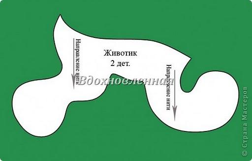 Собачка - мягкая игрушка для детей, выкройка.  Шитье.