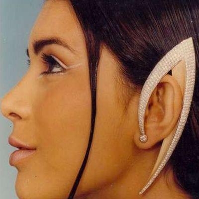 серьги на ушах фото